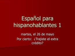 Español para hispanohablantes 1