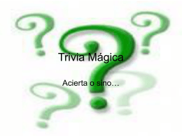 Trivia Mágica - christianperez.com.ar