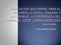 Asociación mundial para el desarrollo y sostenibilidad local: la
