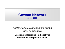 "(Programa COWAM"" Community Waste Management"")."
