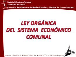 Presentación Ley Org Sistema Económico Comunal (REVISADA)
