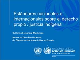 Mirada desde los instrumentos internacionales sobre justicia