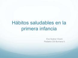 Hábitos Saludables Primera Infancia. Eva Suarez