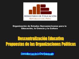 presentación - Ministerio de Educación del Perú