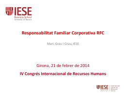Responsabilitat Familiar Corporativa RFC