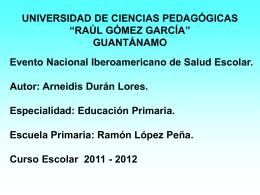 Evento Nacional Iberoamericano de Salud Escolar