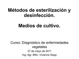 Esterilización y medios de cultivo