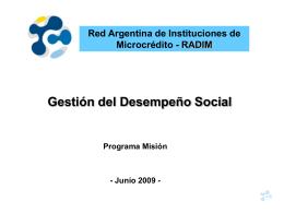 GDS en RADIM - 07 en adelante - RADIM . Red Argentina de