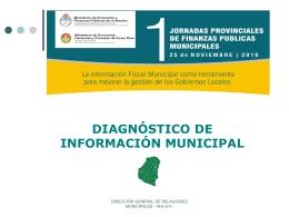 Primeras Jornadas de Finanzas Públicas Municipales en la