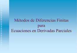 Introducción Diferencias finitas Convergencia y estabilidad
