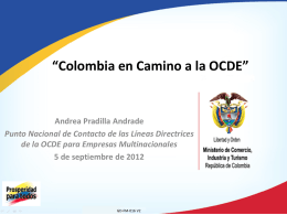 I. Colombia y la OCDE