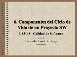 CicloVidaProyectoSW - Universidad Antonio de Nebrija