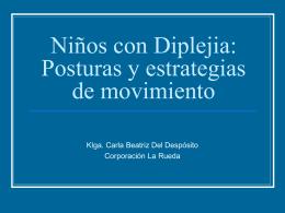 Niños con diplejia: posturas y estrategias de movimiento