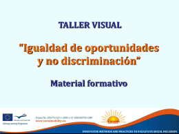 "PPT ""Talleres visuales Material formativo"""