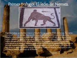 Primer trabajo. El león de Nemea.