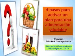 4 pasos para activar un plan de alimentación saludable
