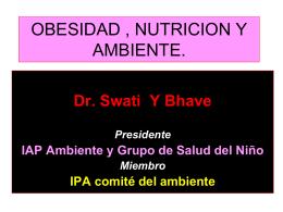 OBESIDAD , NUTRICION Y AMBIENTE