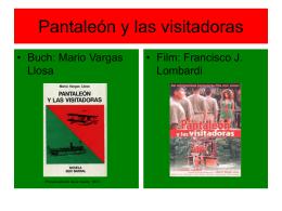 Stephanie Enzenhofer: Pantaleón y las visitadoras (Mario Vargas