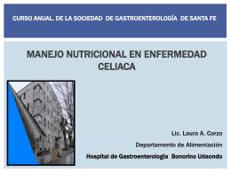 Tratamiento nutricional de enfermedad celíaca. Curso anual 2013