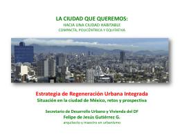 la ciudad que queremos - Escuela de Administración Pública