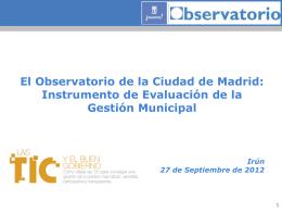 Observatorio de la ciudad de Madrid - [ 3,2 Mb ]