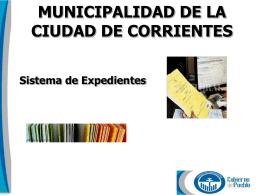 Confirmar Expedientes - Municipalidad de la ciudad de Corrientes