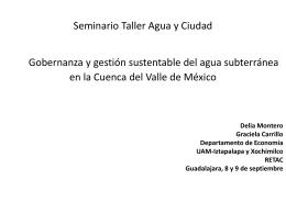 Seminario Taller Agua y Ciudad Gobernanza y gestión sustentable