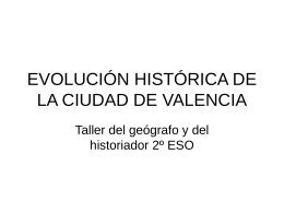EVOLUCIÓN HISTÓRICA DE LA CIUDAD DE VALENCIA