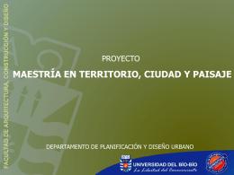 maestría en territorio, ciudad y paisaje - Universidad del Bío-Bío
