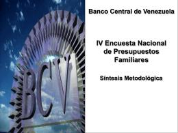 IV Encuesta Nacional de Presupuestos Familiares