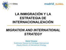 La inmigración en Madrid