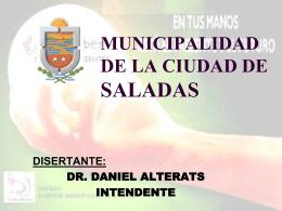 municipalidad de la ciudad de saladas disertante