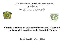 Precipitación Media Anual, en la Zona Metropolitana de la Ciudad