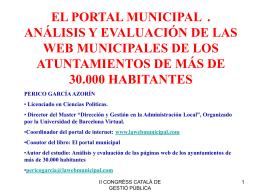 EL PORTAL MUNICIPAL - II Congrés Català de Gestió Pública