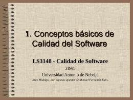 conceptos básicos en calidad de software