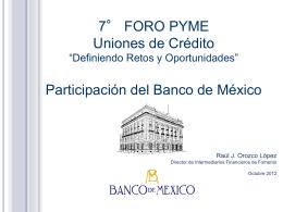 Presentación - 10 foro uniones de crédito