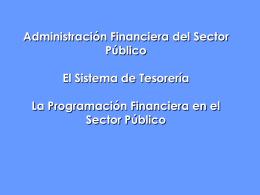 5 - SISTEMA DE TESORERIA - PROG FIN 1 (Jorn. TGP