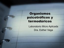 Organismos psicotróficos y termodúricos
