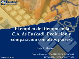 El empleo del tiempo en la C.A. de Euskadi. Evolución y