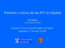 Presente y futuro de las ETTs en España