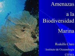 Amenazas a la biodiversidad marina