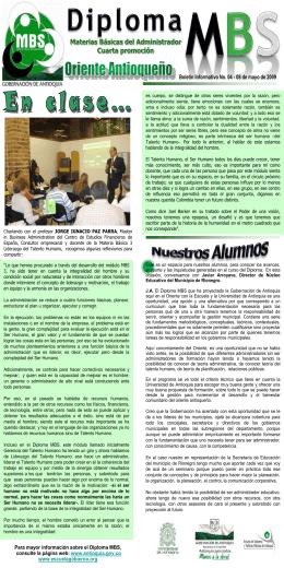 Boletín Interno 4 - Gobernación de Antioquia