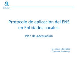 CoP - Plan de Adecuación al ENS.