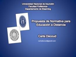Algunos lineamientos sobre políticas y normativas en la Educación