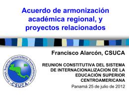 Acuerdo armonización y proyectos relacionados - Siesca