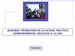 ALGUNOS PROBLEMAS DE LA ACTUAL POLITICA