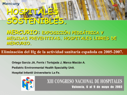 ppt - Paediatric Environmental Health Speciality Unit Murcia