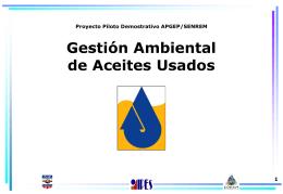Gestión ambiental de aceites usados