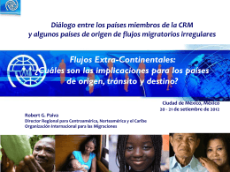 OIM: Flujos migratorios irregulares extracontinentales