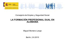 Ponencia sobre Ausbildung de Miguel Montero